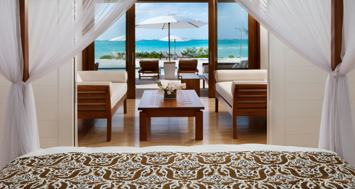 Parrot Cay - view out from bed