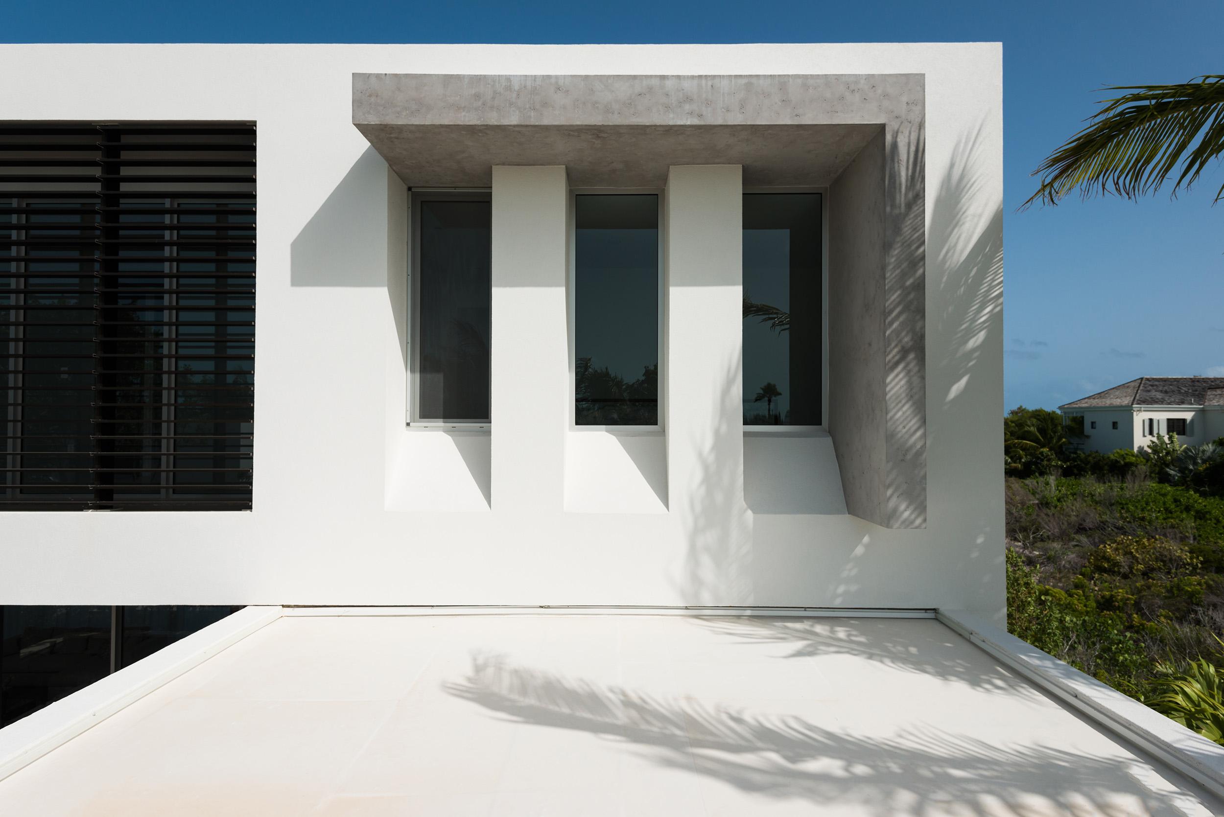 Villa Awa - detail view of the window shading