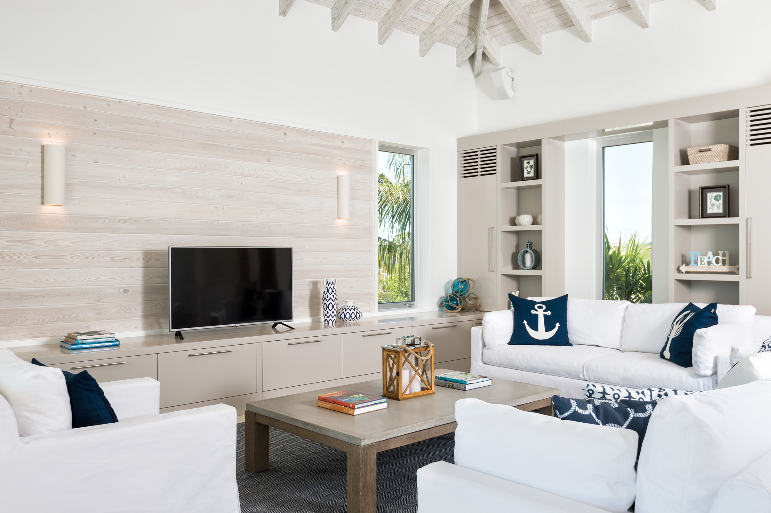 Villa Aguaribay - view of the open plan living area
