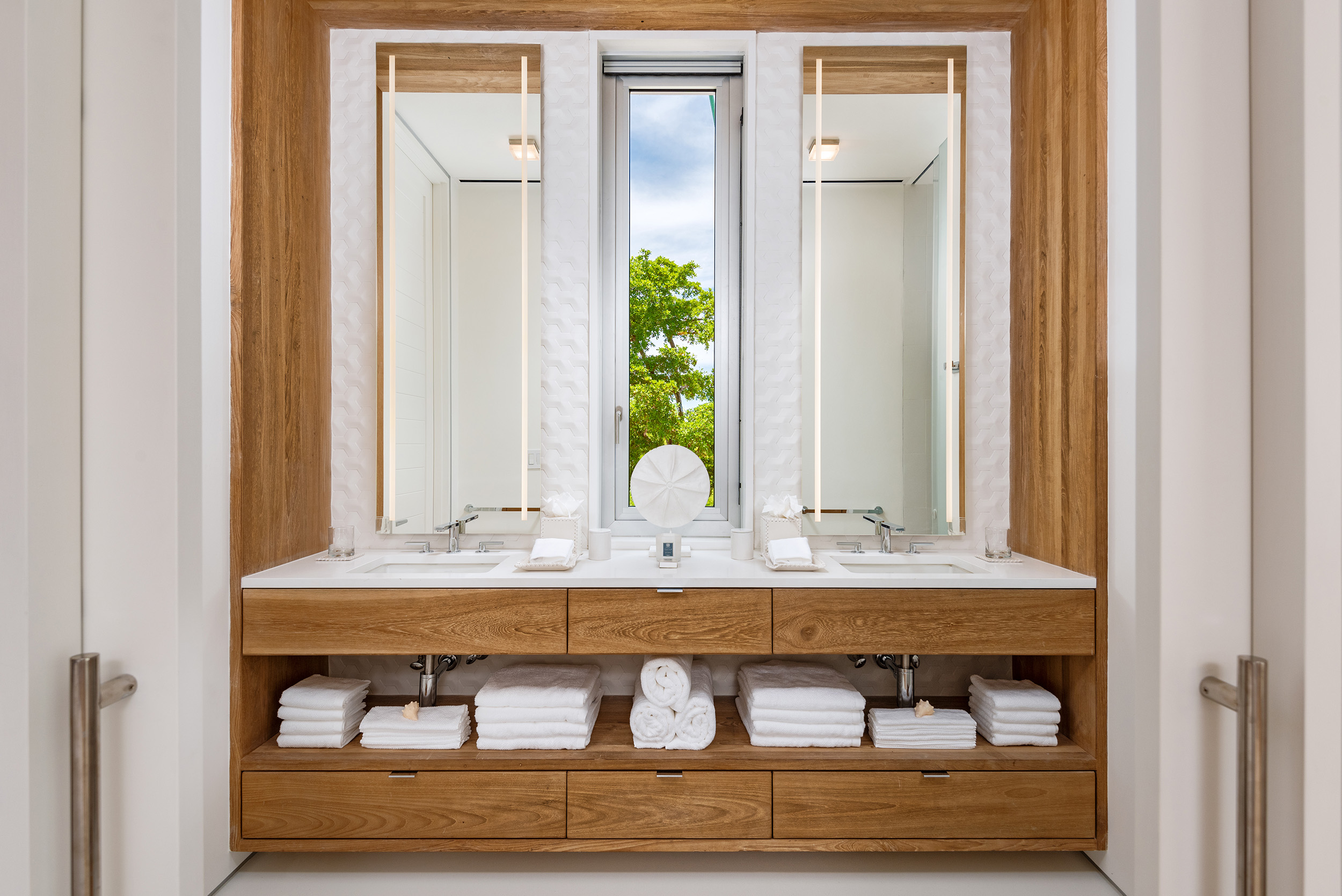 Emerald Pavilion - view of one of the bathroom vanities