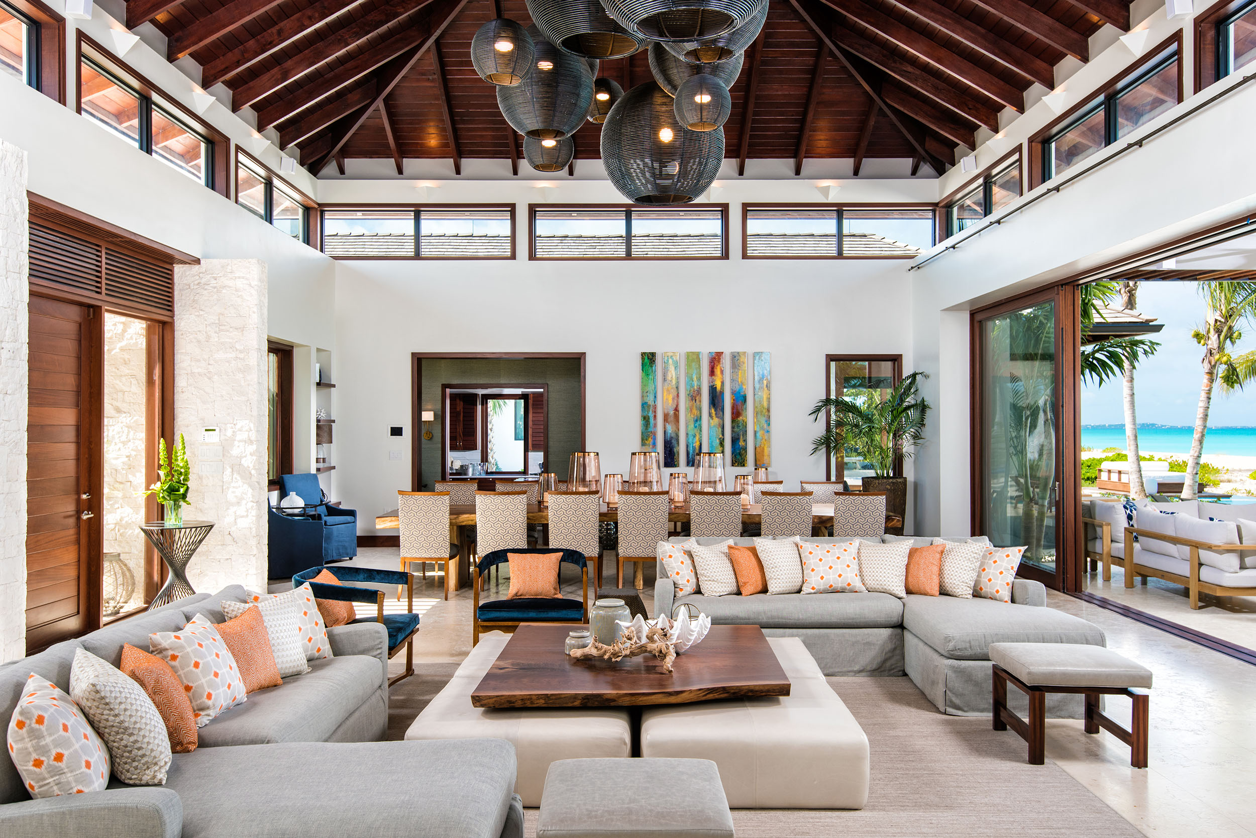 Hawksbill - view of the living and dining areas