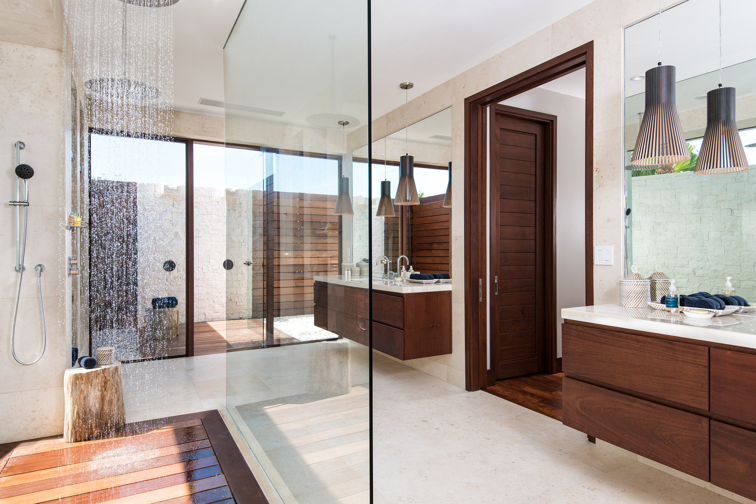 Hawksbill - view of the master bathroom with outdoor shower area