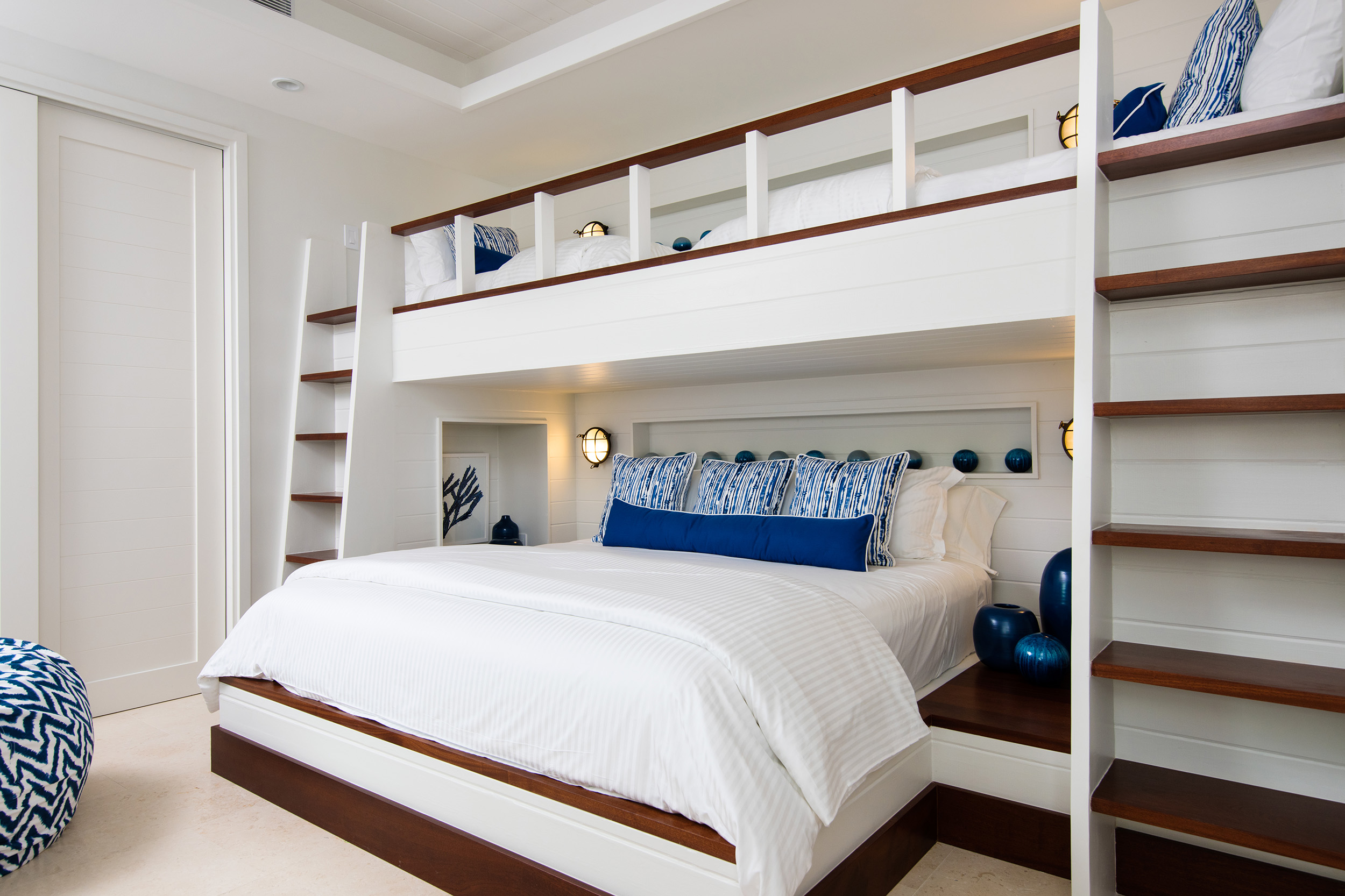 Hawksbill - view of one of the bedrooms, showing the bunk beds