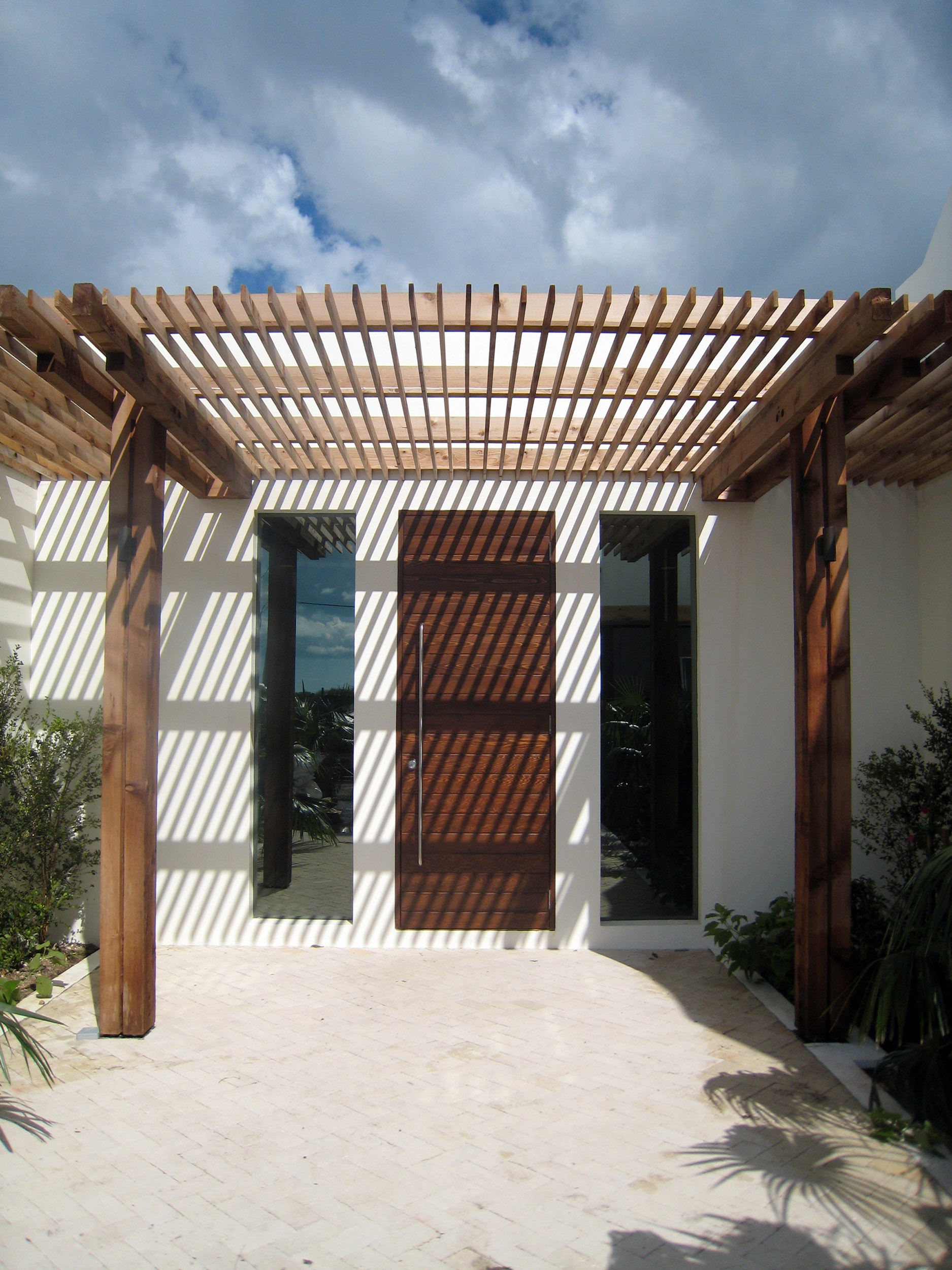 Griffiths and Partners - view of the entrance pergola