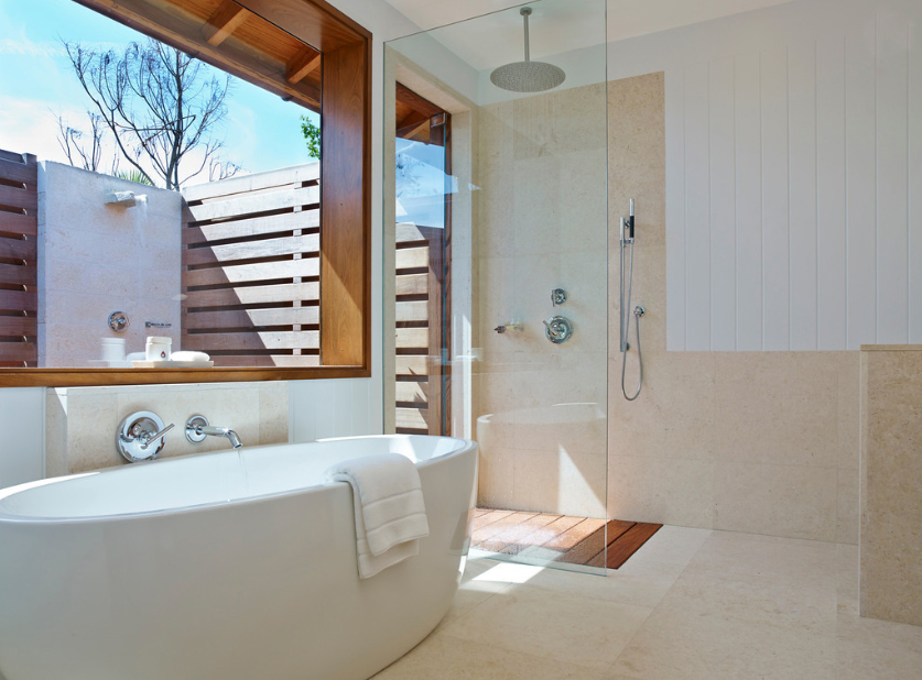 Parrot Cay - view of a bathroom and outdoor shower area
