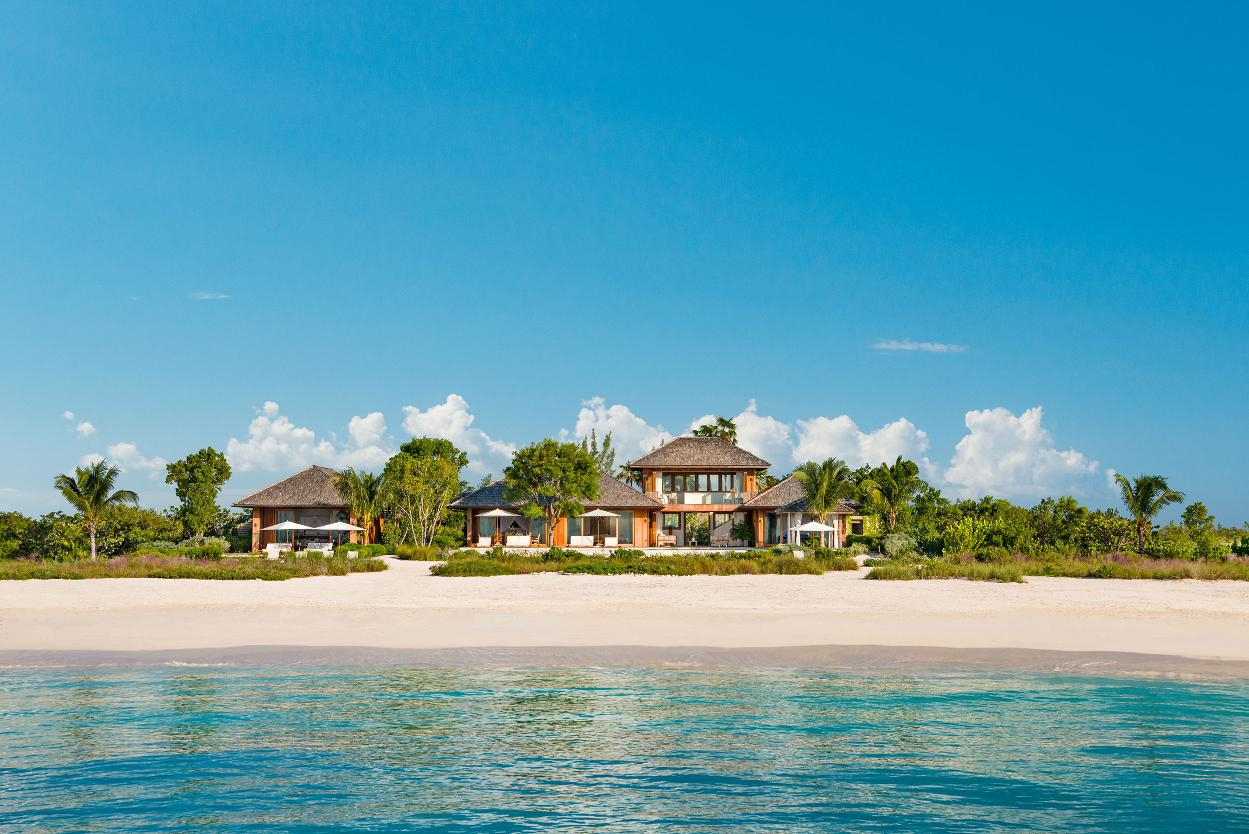 Serenity - view of the villa from the ocean