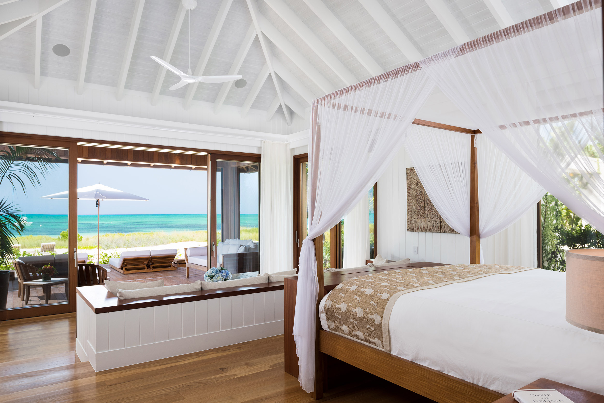 Serenity - view of the master bedroom and deck beyond