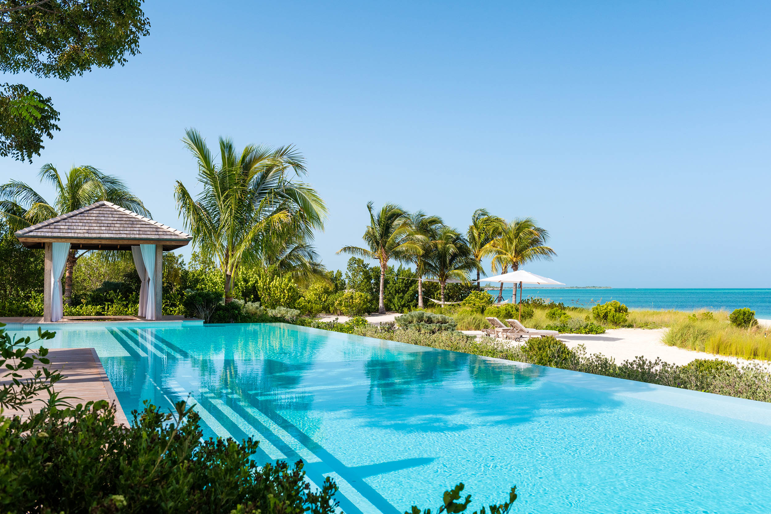Serenity - view of the pool and cabana
