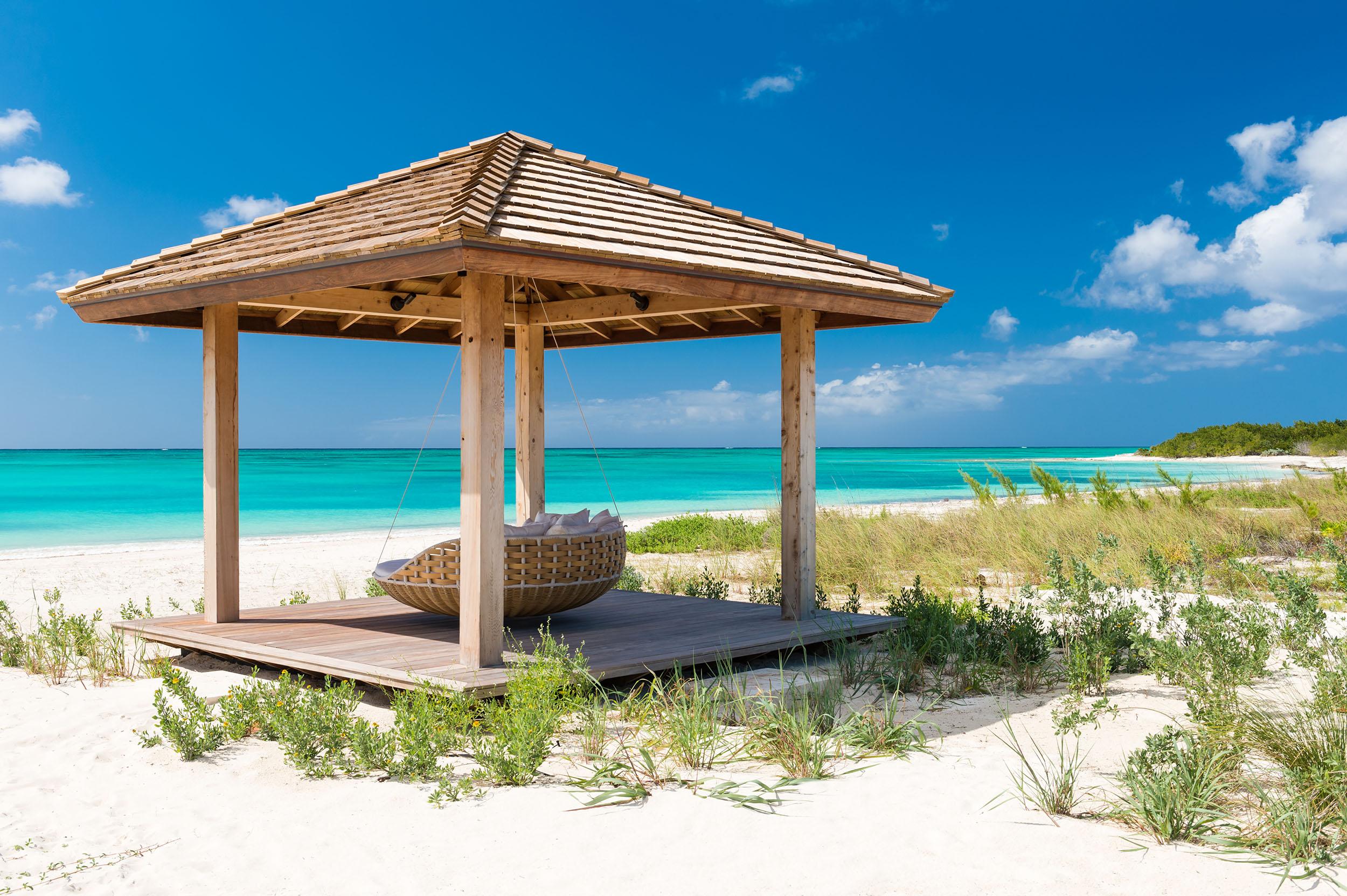 Serenity - view of the beach cabana
