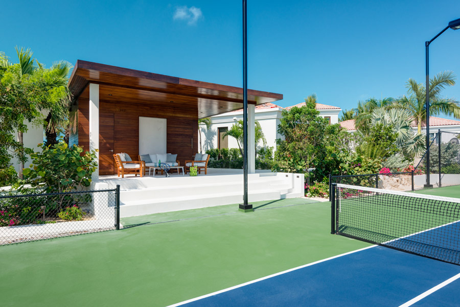 Dream Big Villa - view of the private tennis pavilion