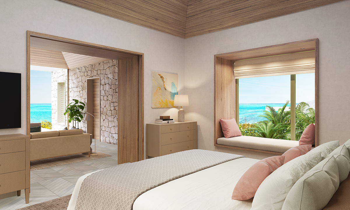 Rock House - rendered view of the bedroom