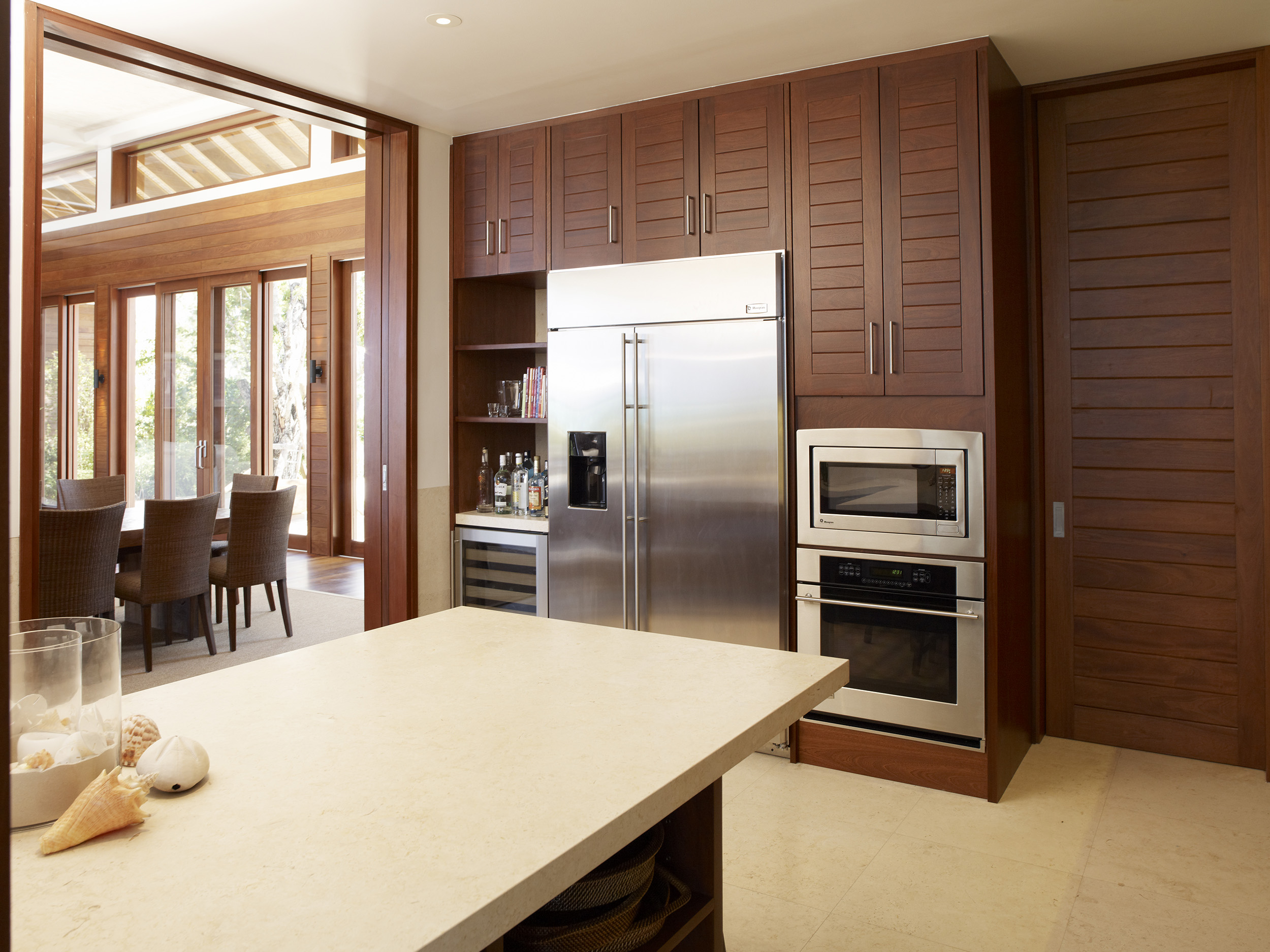 Tamarind - view of the kitchen cabinetry