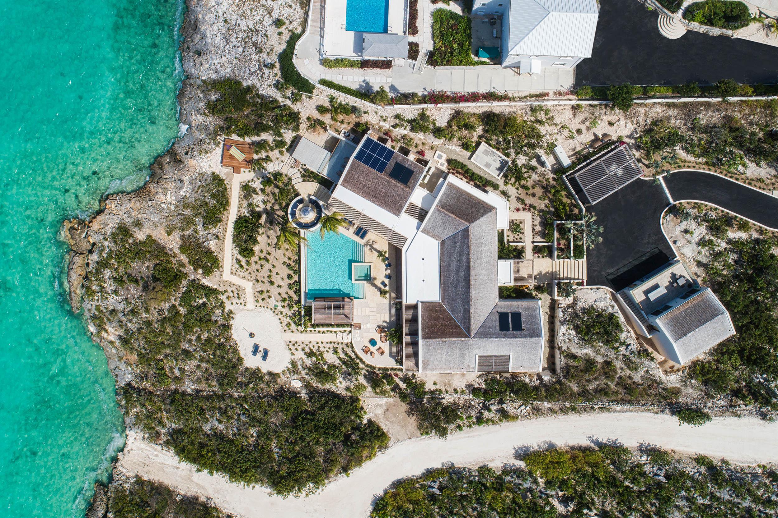 Villa Alinna - aerial view